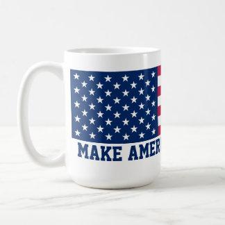 Make America Great Again American Flag Classic White Coffee Mug