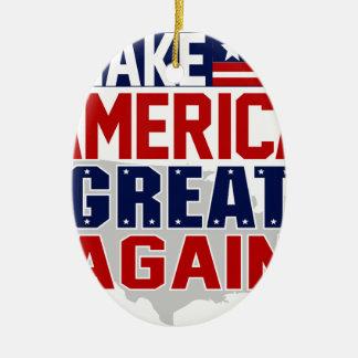 make america great again mug 1 ceramic ornament