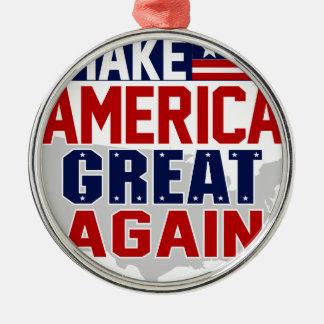 make america great again mug 1 metal ornament