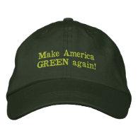 Make America Green Again Embroidered Baseball Cap