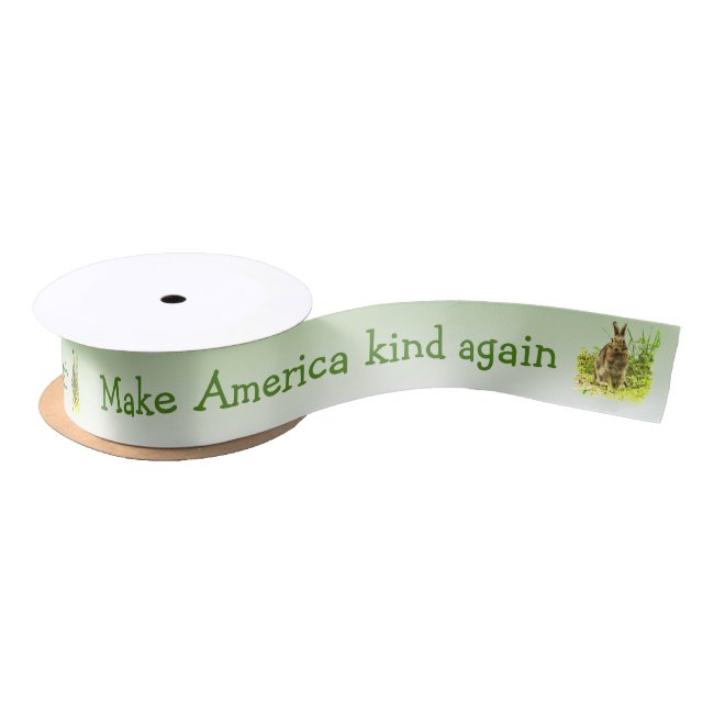 Make America Kind Again Bunny Rabbit Ribbon