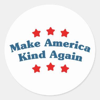 Make America Kind Again Classic Round Sticker