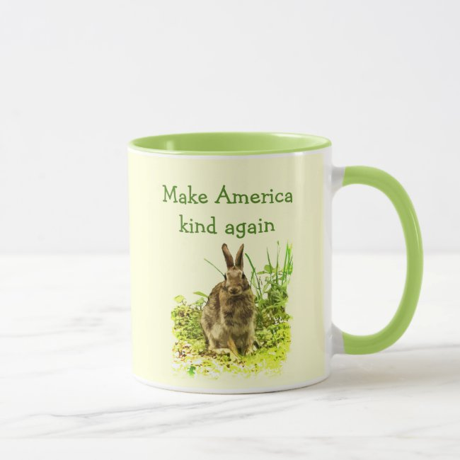 Make America Kind Again Cute Bunny Rabbit Mug