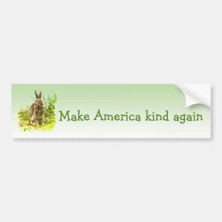 Make America Kind Again Rabbit Bumper Sticker