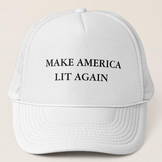 Make America Lit Again - Donald Trump Trucker Hat  008257664df