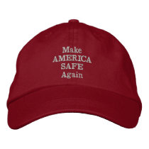 Make America Safe Again Embroidered Baseball Hat