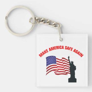 Make America Safe Again Keychain