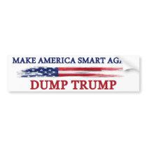 Make America Smart Again Dump Trump Bumper Sticker