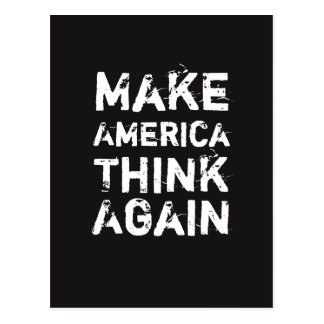 MAKE AMERICA THINK AGAIN Social Justice Postcard