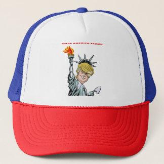 Make America Trump! trucker hat, cartoon Trucker Hat
