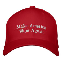 Make America Vape Again Hat. F the FDA! Embroidered Baseball Hat