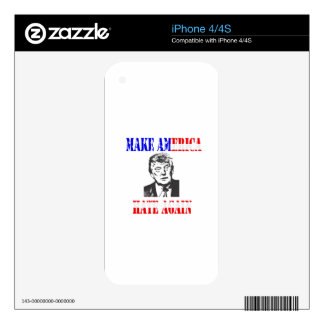 Make American Hate Again Anti Trump Decal For The iPhone 4S