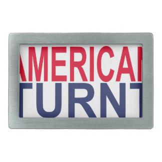 MAKE AMERICAN TURNT AGAIN . RECTANGULAR BELT BUCKLE