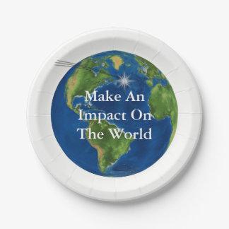 Make An Impact Paper Plate