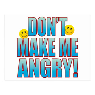 Make Angry Life B Postcard