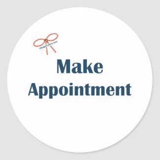 Make Appointment Reminders Classic Round Sticker