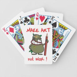 make art bicycle playing cards