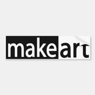 Make Art Bumper Sticker Car Bumper Sticker