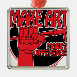 Make Art Make a Difference II Metal Ornament