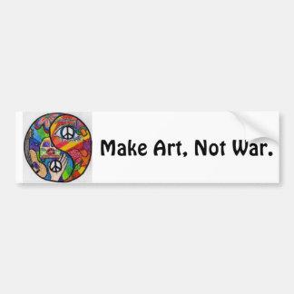 Make Art, Not War Bumper Car Bumper Sticker