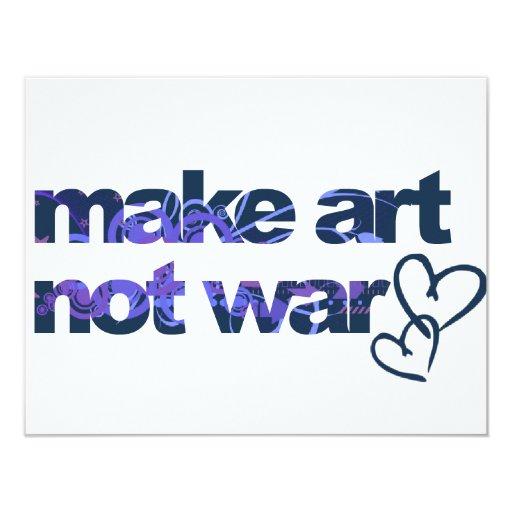 Make Art, Not War Card