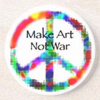 Make Art Not War Drink Coaster