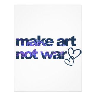 Make Art, Not War Full Color Flyer