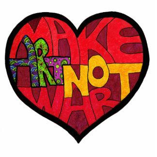 Make Art Not War Keychain Photo Cut Outs