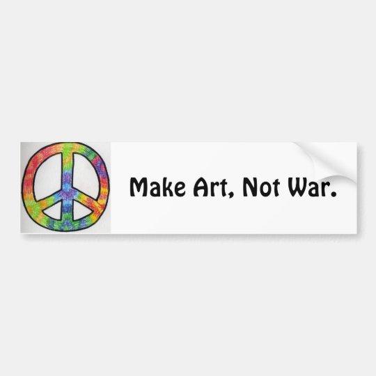 Make Art, Not War.-peace sign Bumper Sticker