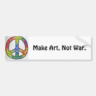 Make Art, Not War.-peace sign Car Bumper Sticker