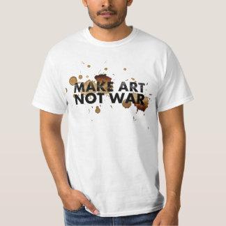 MAKE ART NOT WAR shirt for man and woman