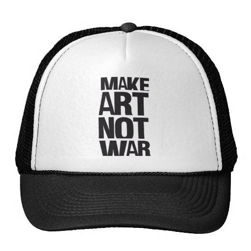 MAKE ART NOT WAR TRUCKER HAT