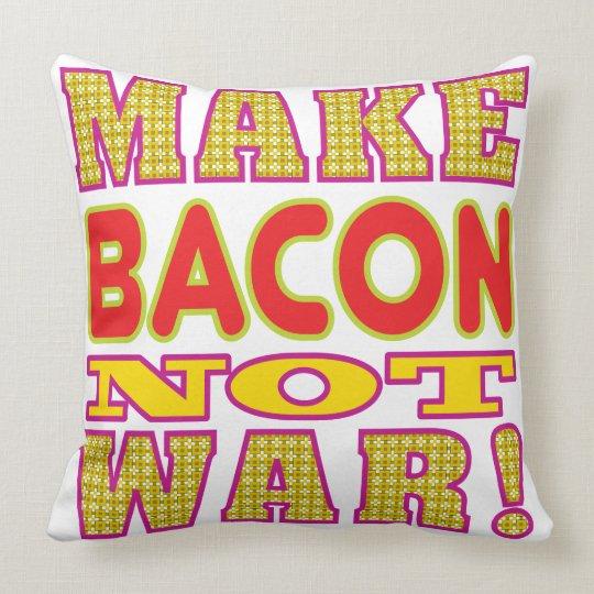 Make Bacon Throw Pillow