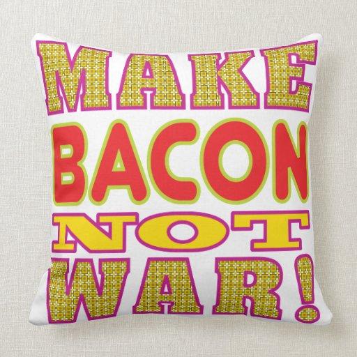Make Bacon Throw Pillows