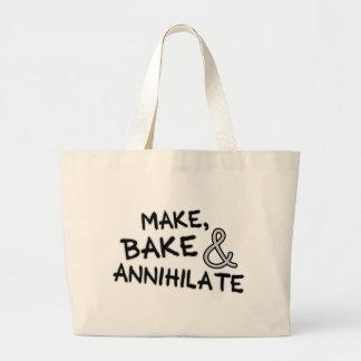 Make Bake Annihilate Canvas Bag