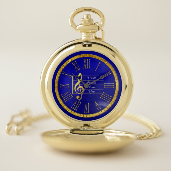 Make Beautiful Music Memories Pocket Watch