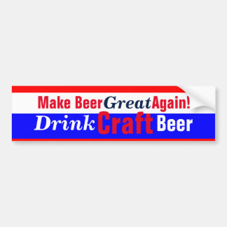 Make Beer Great Again Bumper Sticker