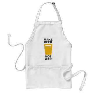 Make Beer, Not War Adult Apron