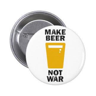 Make Beer, Not War Pinback Button