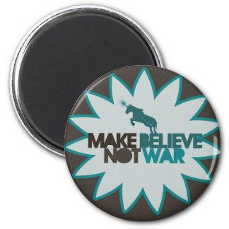 Make believe not war 2 inch round magnet