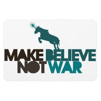 Make Believe not war Rectangular Photo Magnet