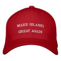 Make Blank Great Again Custom Red Hat