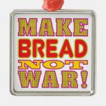 Make Bread Silver-Colored Square Decoration