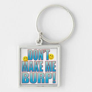 Make Burp Life B Silver-Colored Square Keychain