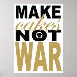 make cakes not war print