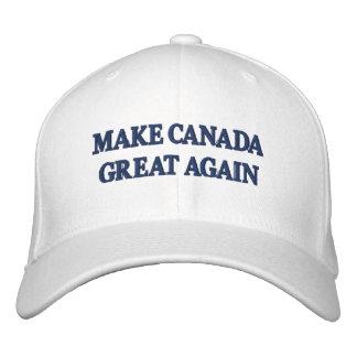 Make Canada Great Again - Trump Cap Parody Embroidered Hat