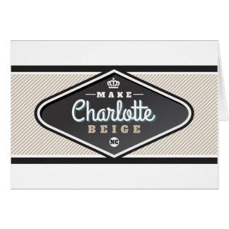 MAKE CHARLOTTE BEIGE CARD