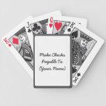 Make Checks Payable Bicycle Playing Cards
