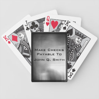 Make Checks Payable To- Metal Background Bicycle Playing Cards