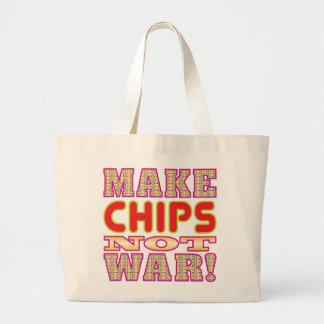 Make Chips v2 Large Tote Bag